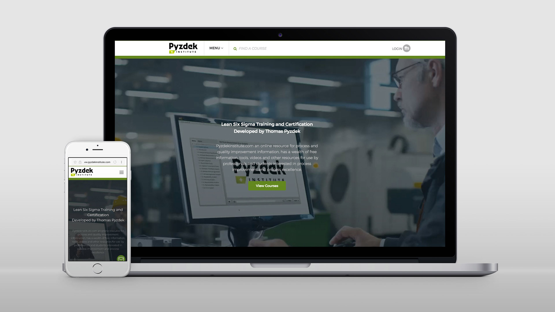 Pyzdek Institute - Multimedia interactive videos develop for trainings