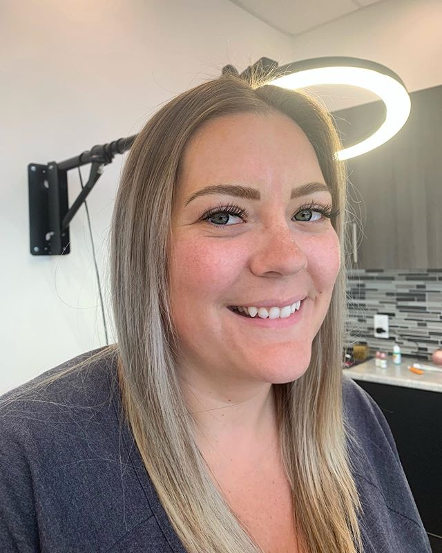 You know when you get so excited to create brows you forget the before photos? This beautiful mama came all the way from NB to get her brow goals achieved 🧚🏼‍♂️🔅 . // color used: Mallard X Tina's gold sunrise @permablend_pigments