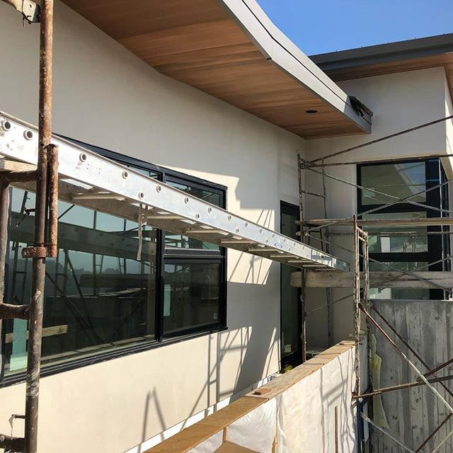 Belmont house site visit - cedar eaves are in #sunnyhillsstudio #oaklandarchitects #underconstruction