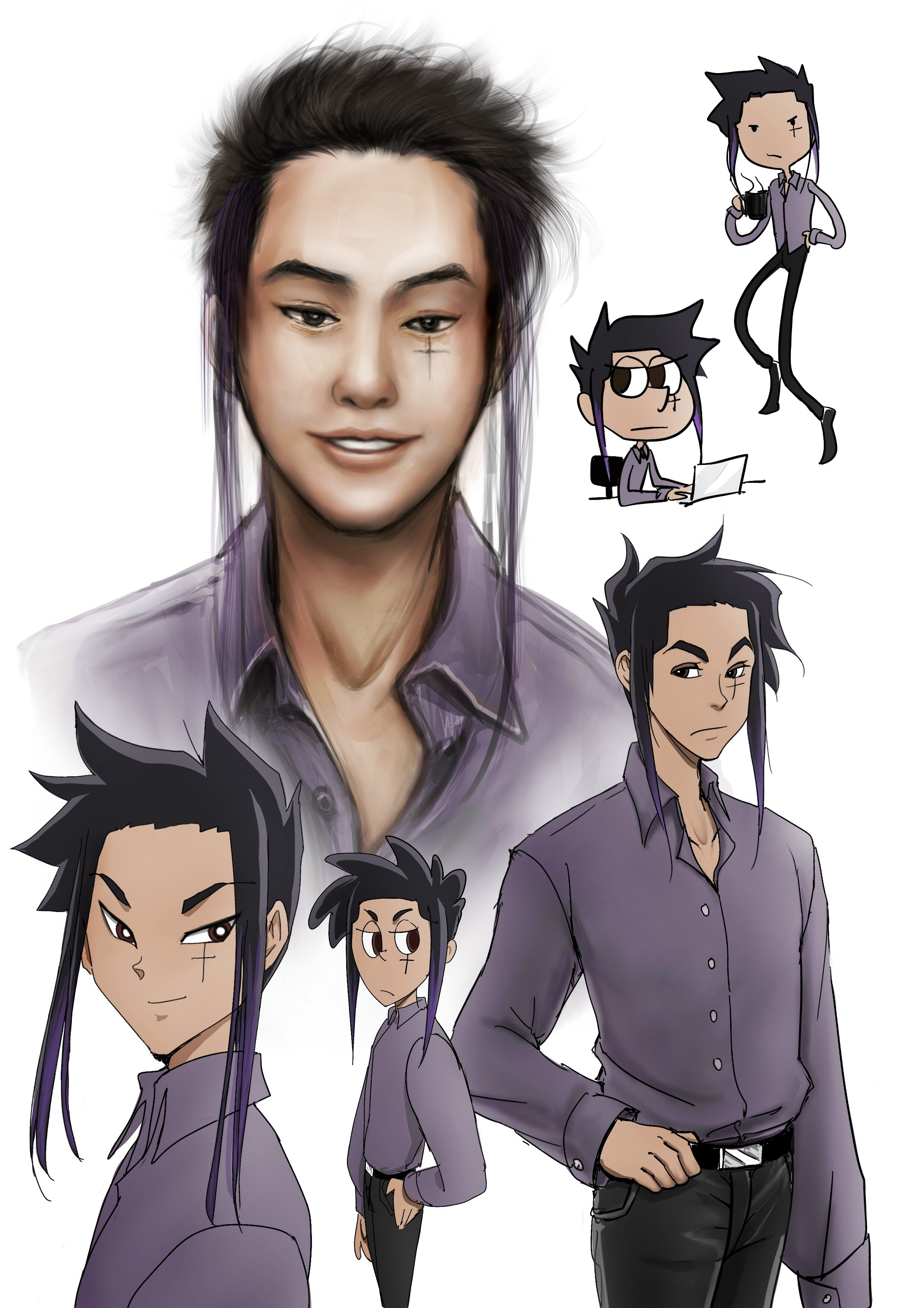 this is ryuzaki - He is Ria's second husband and father to Hari and Kacu. He plays Boreas in the Myth of Eros and Psyche and played Young Siward in Macbeth.
