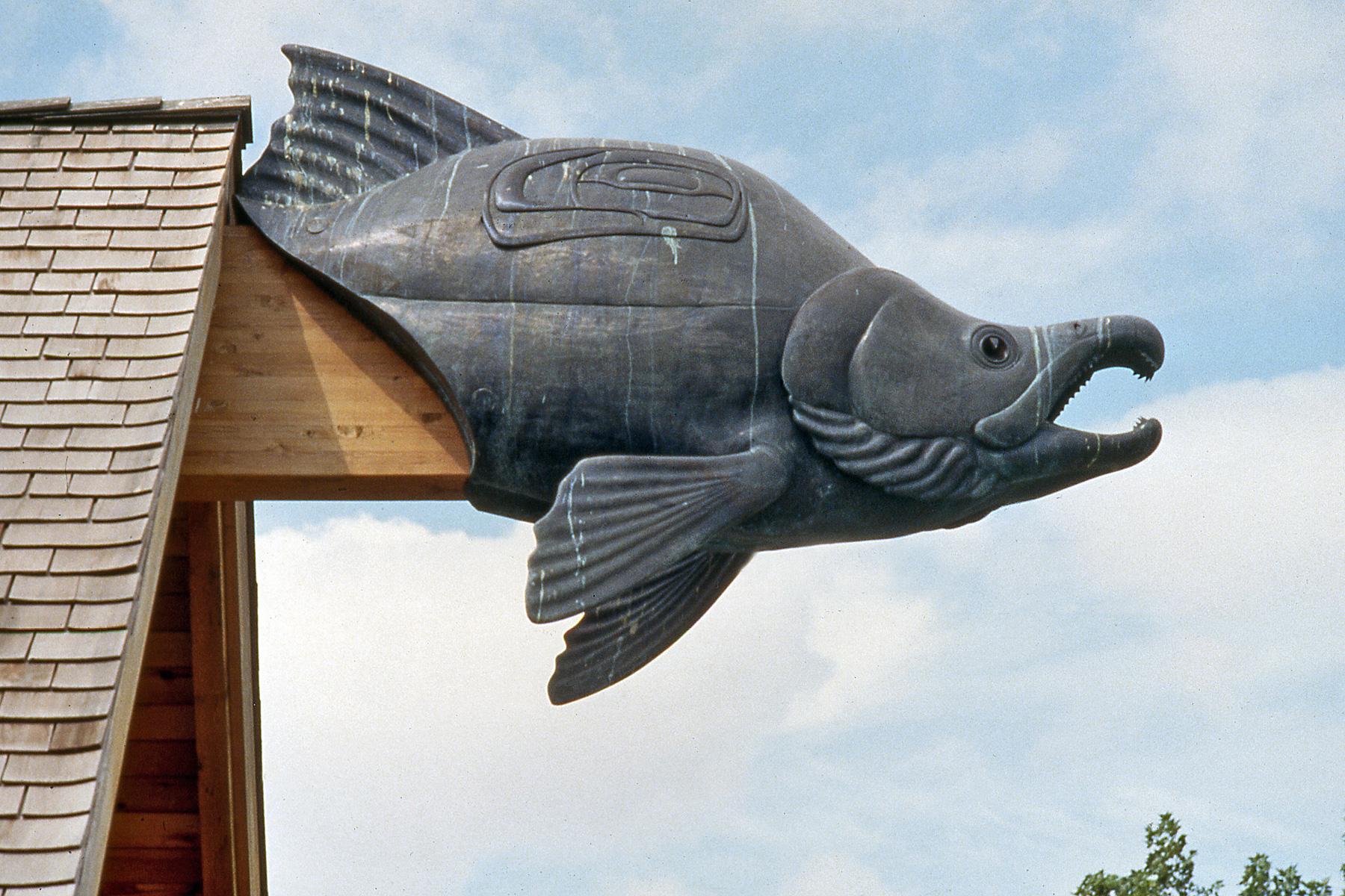 Salmon gargoyle