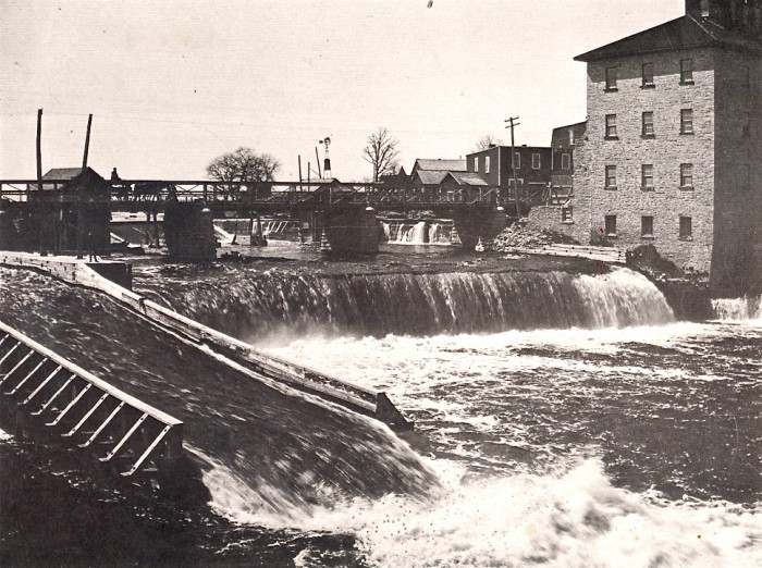 The Falls with Bridge & Mill circa 1880's