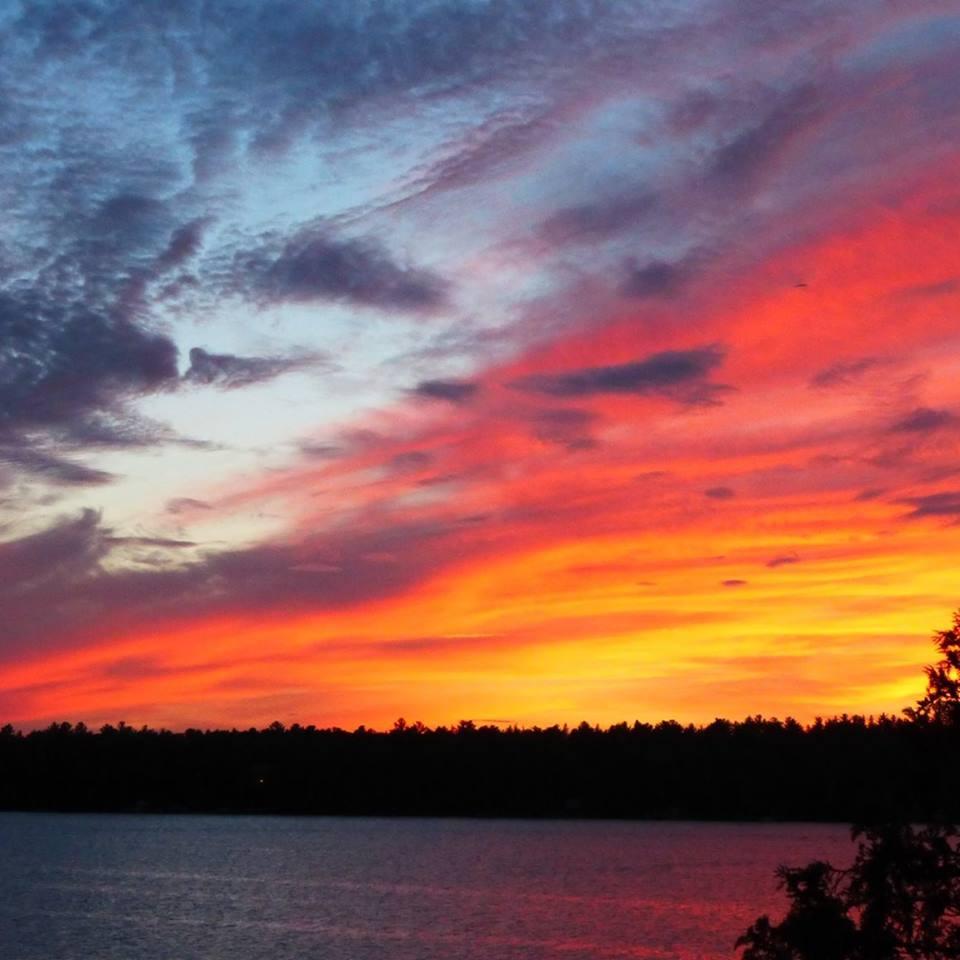 Sunset over 4 Mile Lake - Libby Brett.jpg