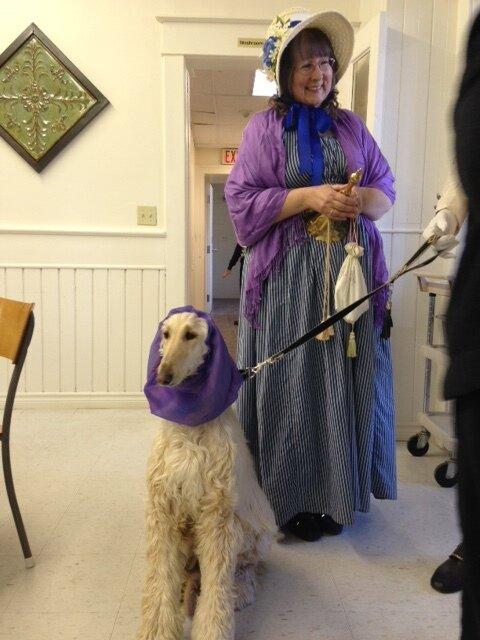 Local Hero Granny, Beth Sinyard Hart, (and Asha), member of Kawartha Lakes Culture and Heritage Network.