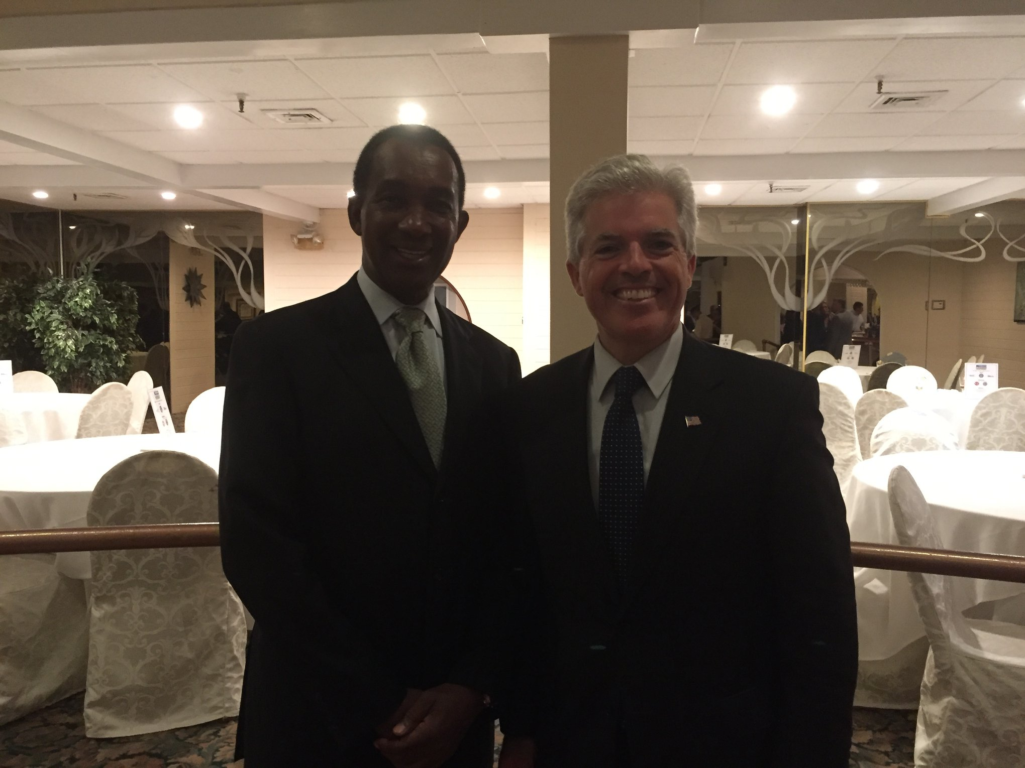Clyde Parker and Suffolk County Executive Steven Bellone.