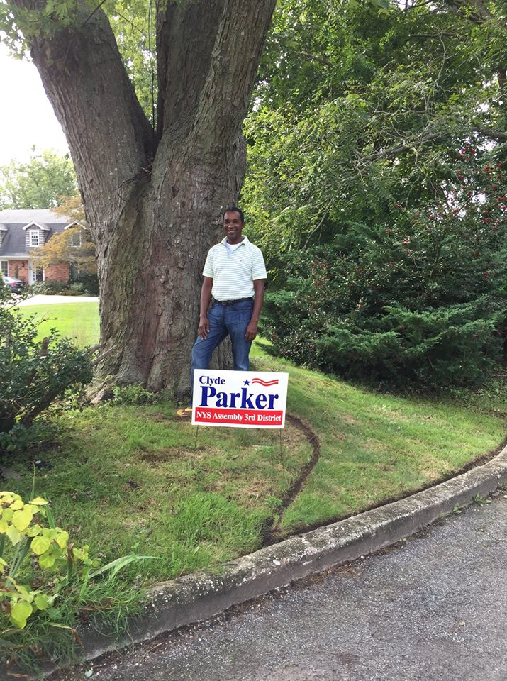 Clyde Parker lawn sign