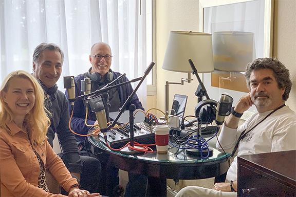 Cinemondo Co-hosts Kathy Bakken, Mark Aznavourian and Burk Sauls interview director Joe Berlinger.