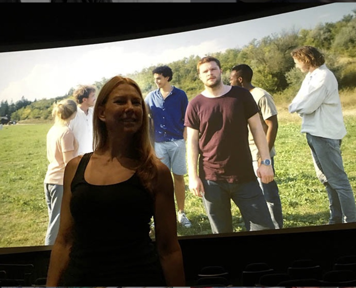 Kathy joins the gang of Midsommar while the pause the film after an earthquake that hit during the screening of the film in Southern California.