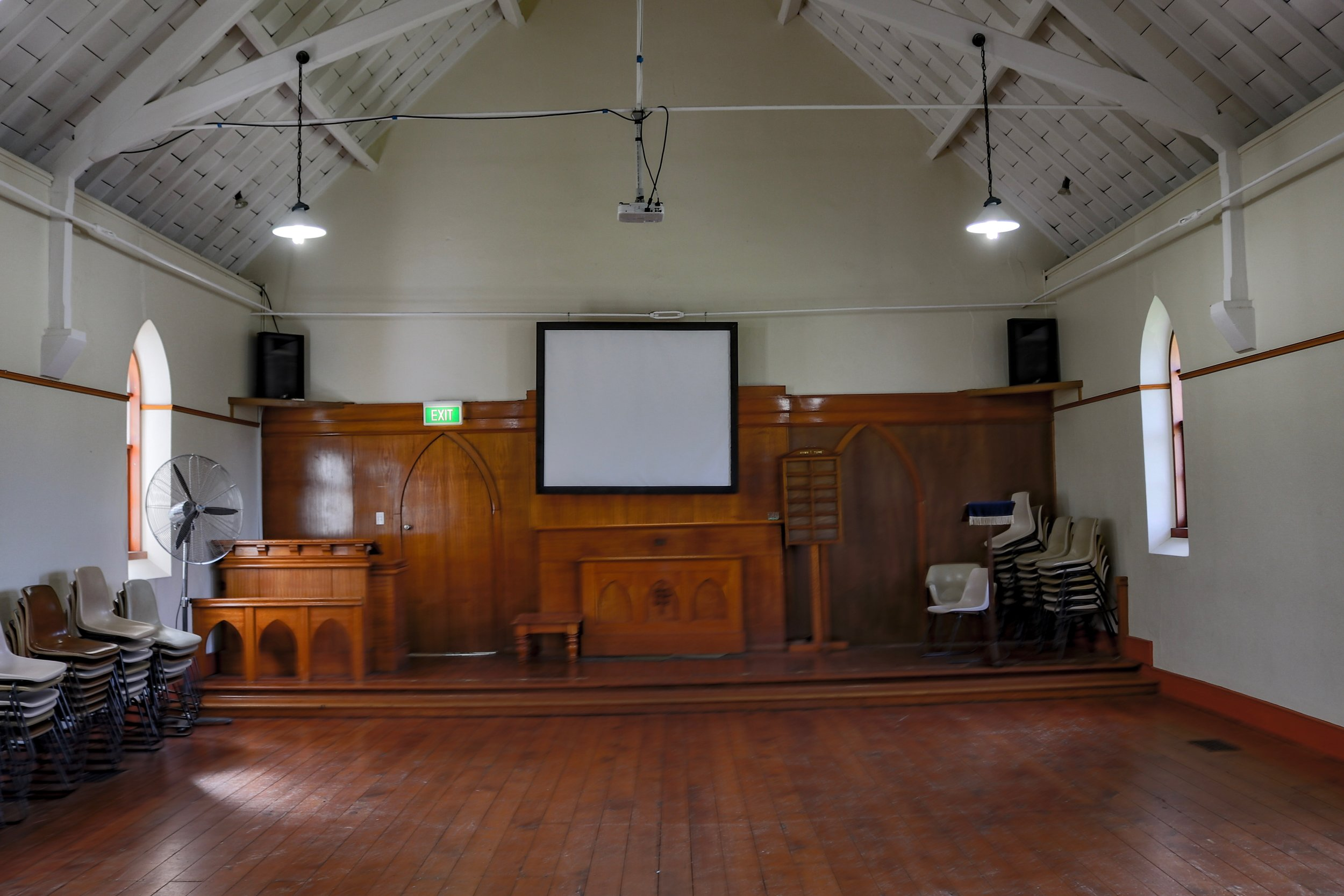 Chapel stage area