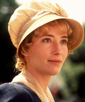 Emma Thompson in the 1995 film adaptation of  Sense & Sensibility . Thompson played Elinor and wrote the screenplay, for which she won an Oscar.