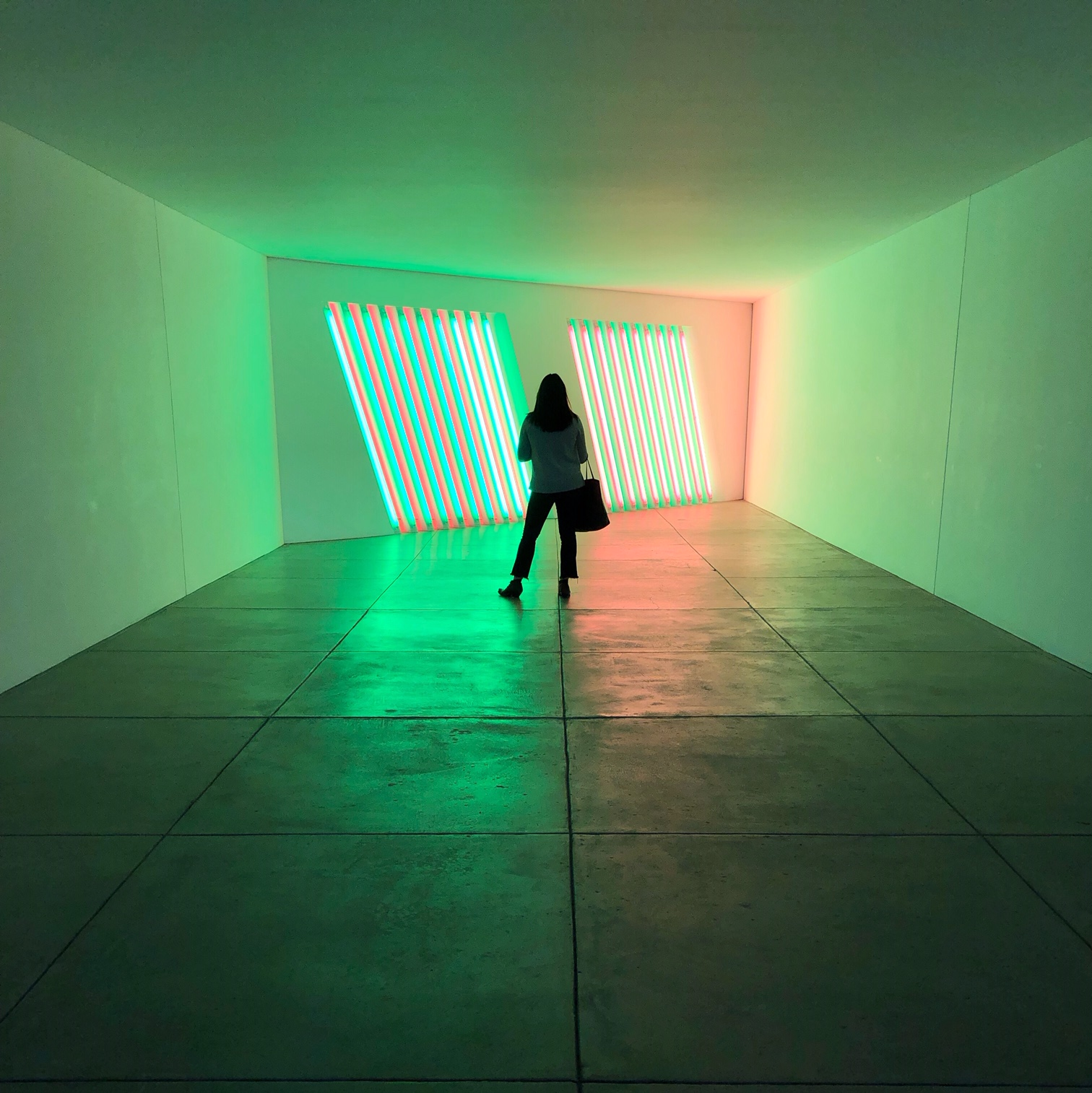 Dan Flavin's untitled (Marfa project), 1996, Chinati Foundation