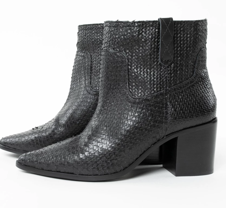 Favor The Kind Bonarda Snake Boots ($188) - Block heeled boots not only look chic with raw hemmed denim, but they also look prim and polished with a floral maxi dress. And if these boots are right up your alley, we recommend heading over to this Knox-Henderson boutique to check out the rest of their collection—it's pretty fantastic.