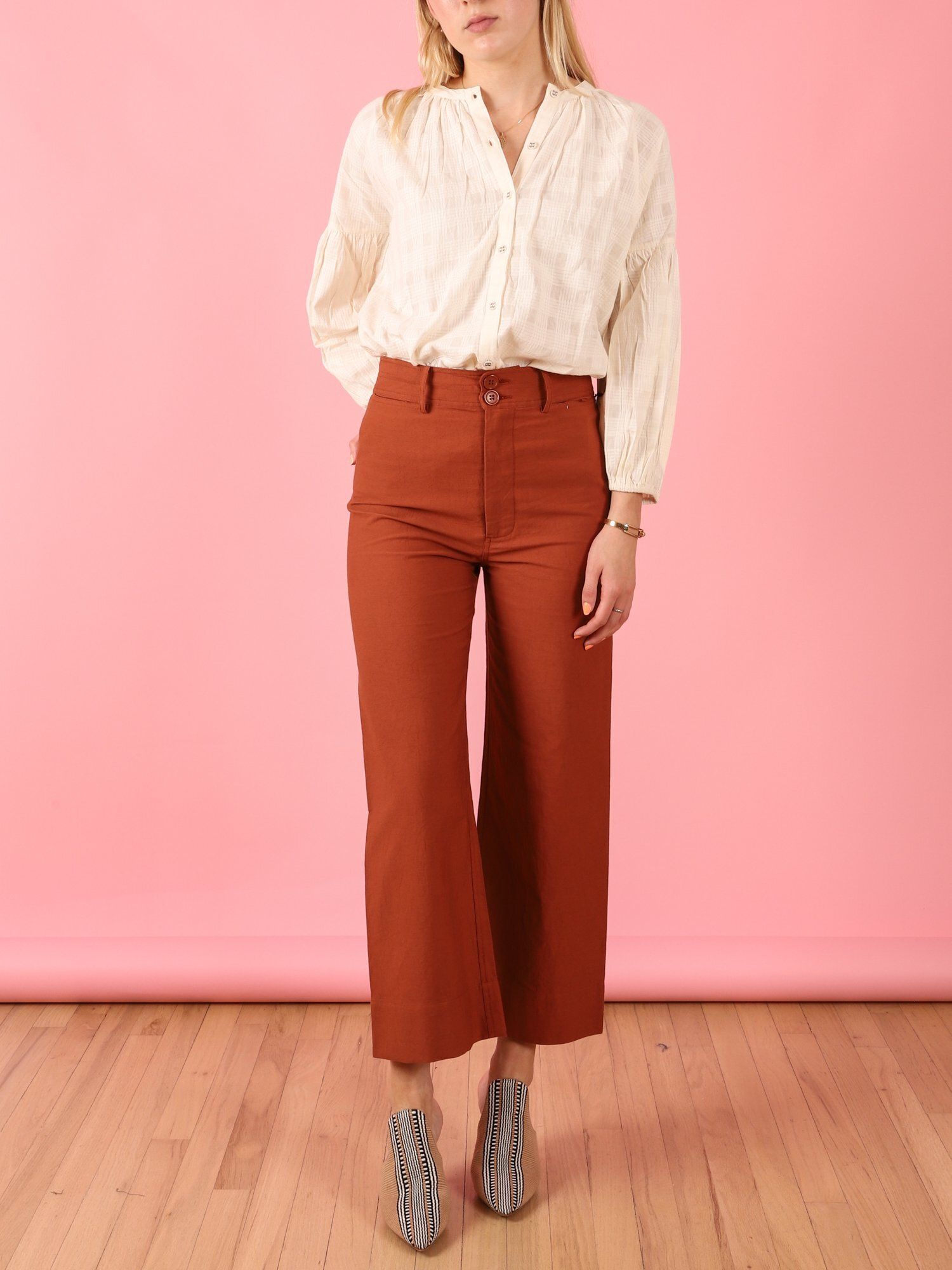 Cabana Canary Merida Pants ($295) - Nothing against straight and skinny cuts, but nothing beats a good wide-leg silhouette. While we're admittedly obsessed with everything at this Bluffview boutique, these on-point copper pants would look great with everything in our autumnal rotation.