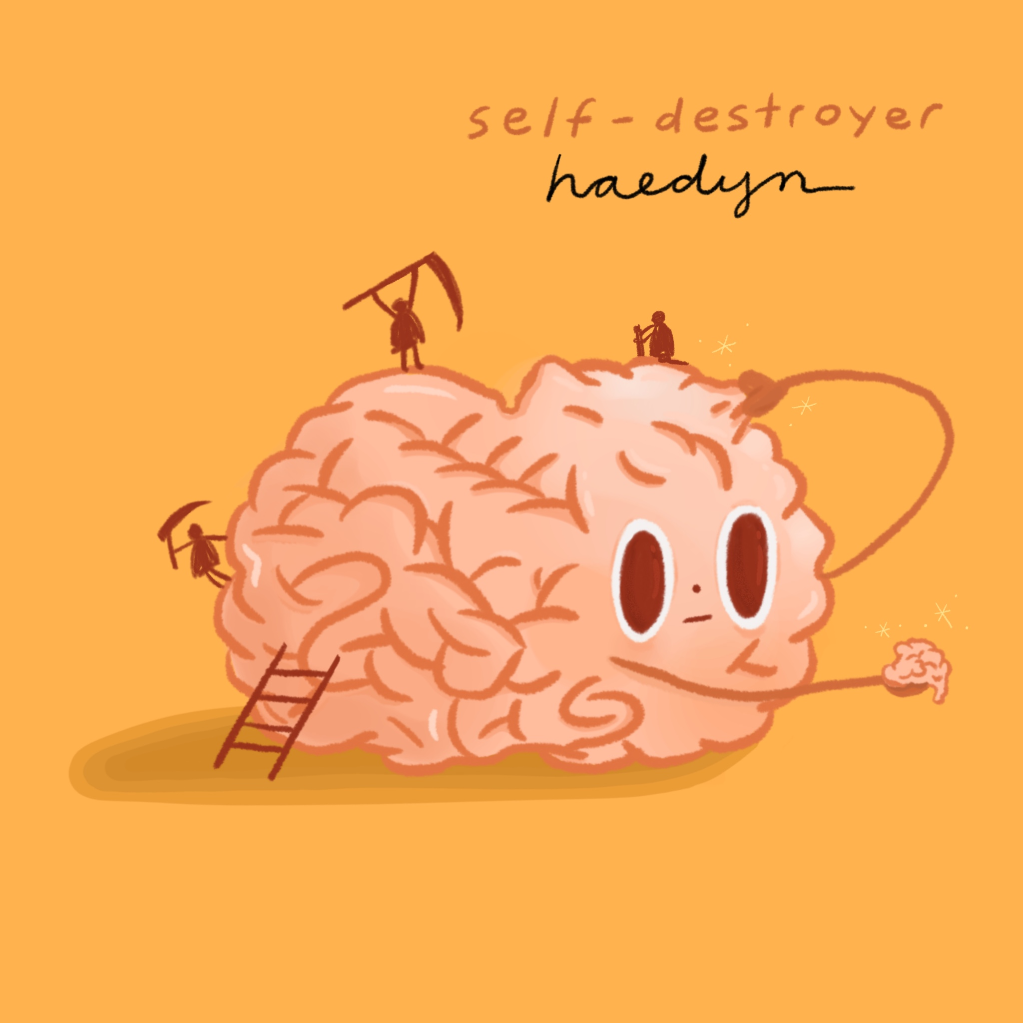 Self-Destroyer  cover art for  Haedyn.   Music and cover art available for viewing  here .