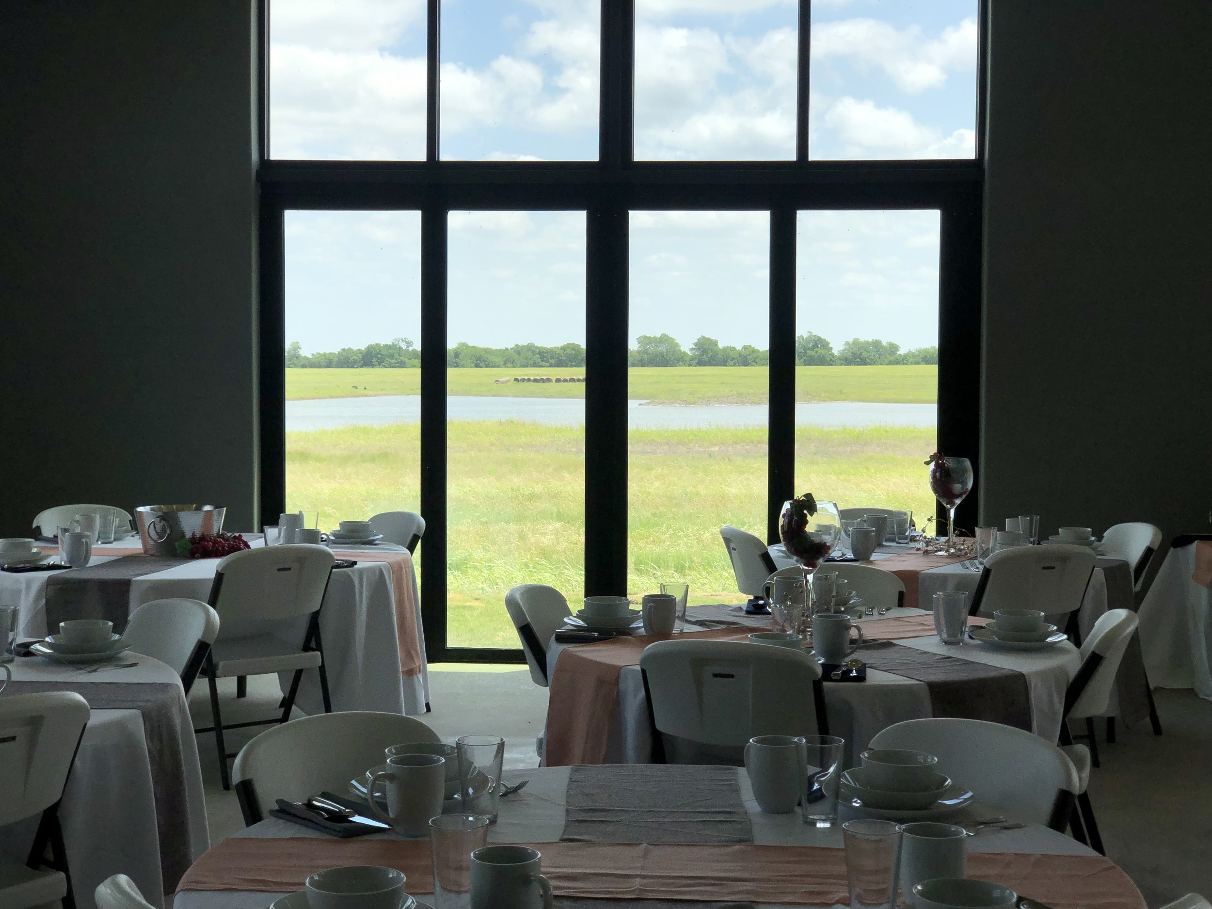FarmResort Dinner Set Up with Chairs and Doors Closed.jpg
