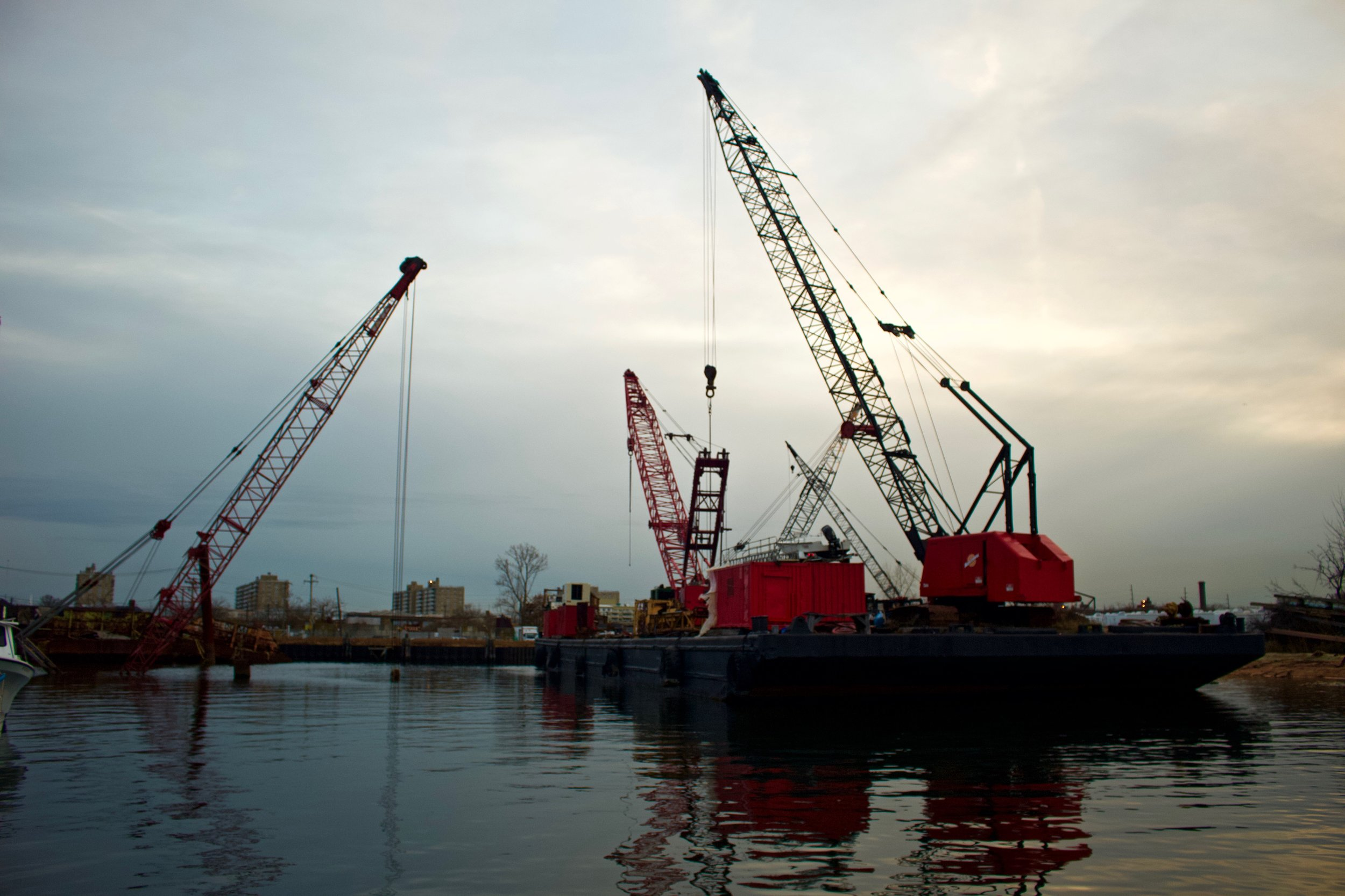 Sunken Cranes @ Marina 59 (Rockaway Beach)