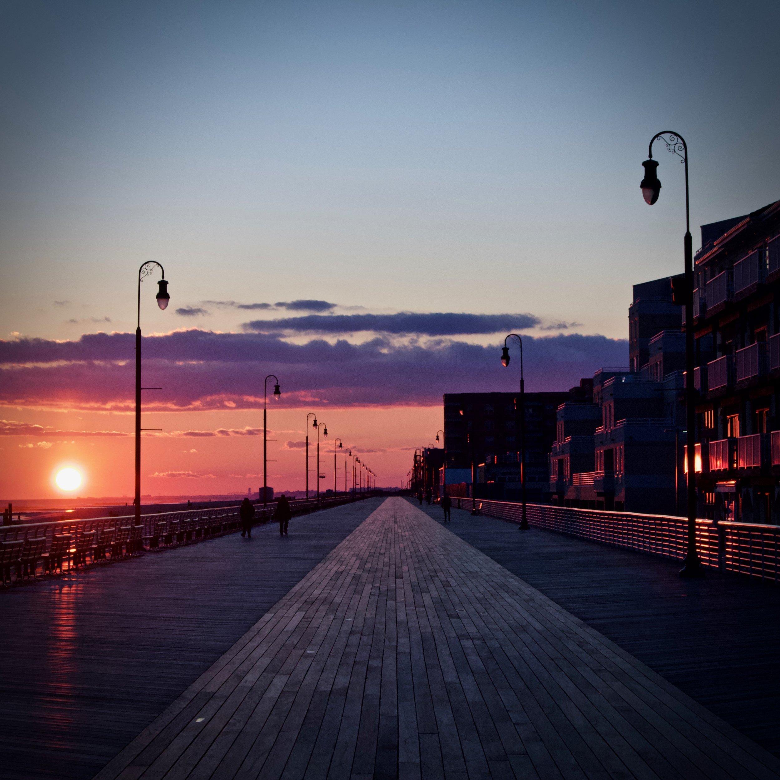 Long Beach Boardwalk Sunset (March 2019)