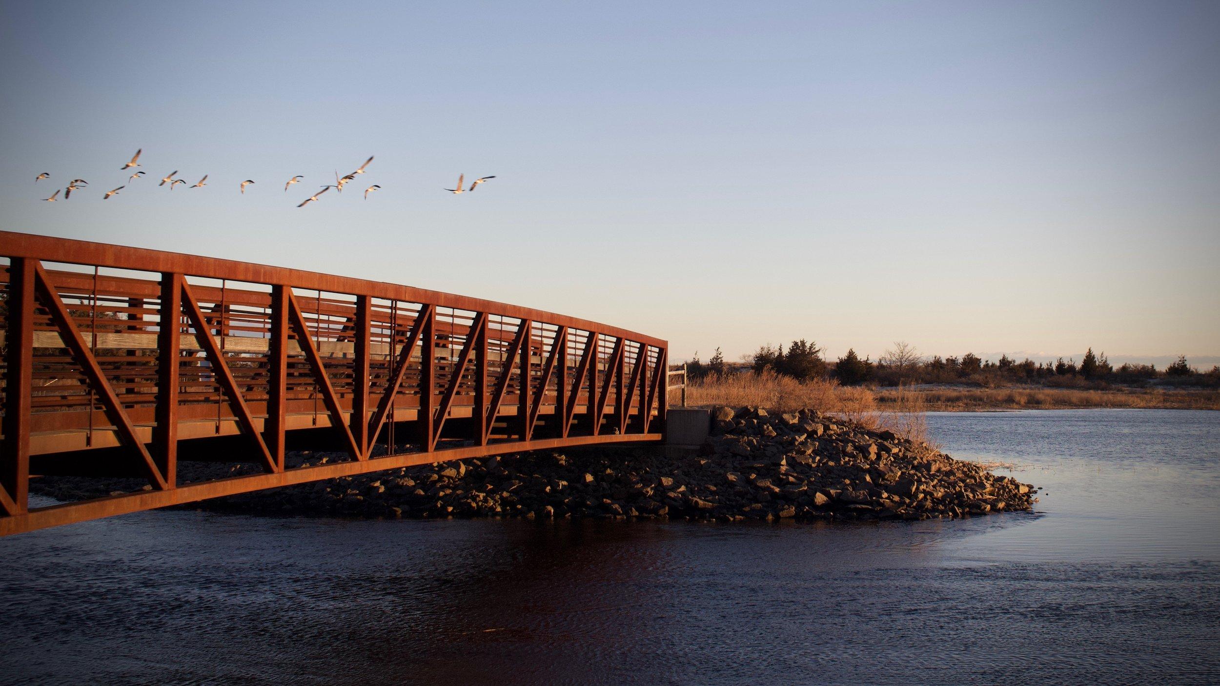 Footbridge at Sunken Meadow State Park