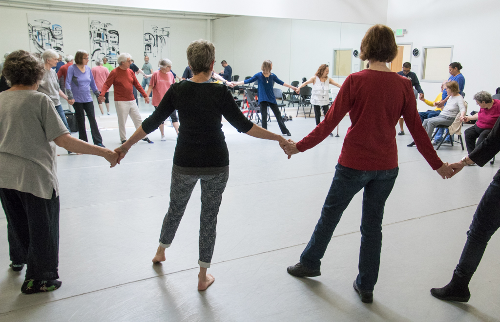 """Dance for PD® class  in BBT's """"Studio 3"""", photo by Diane Dew"""