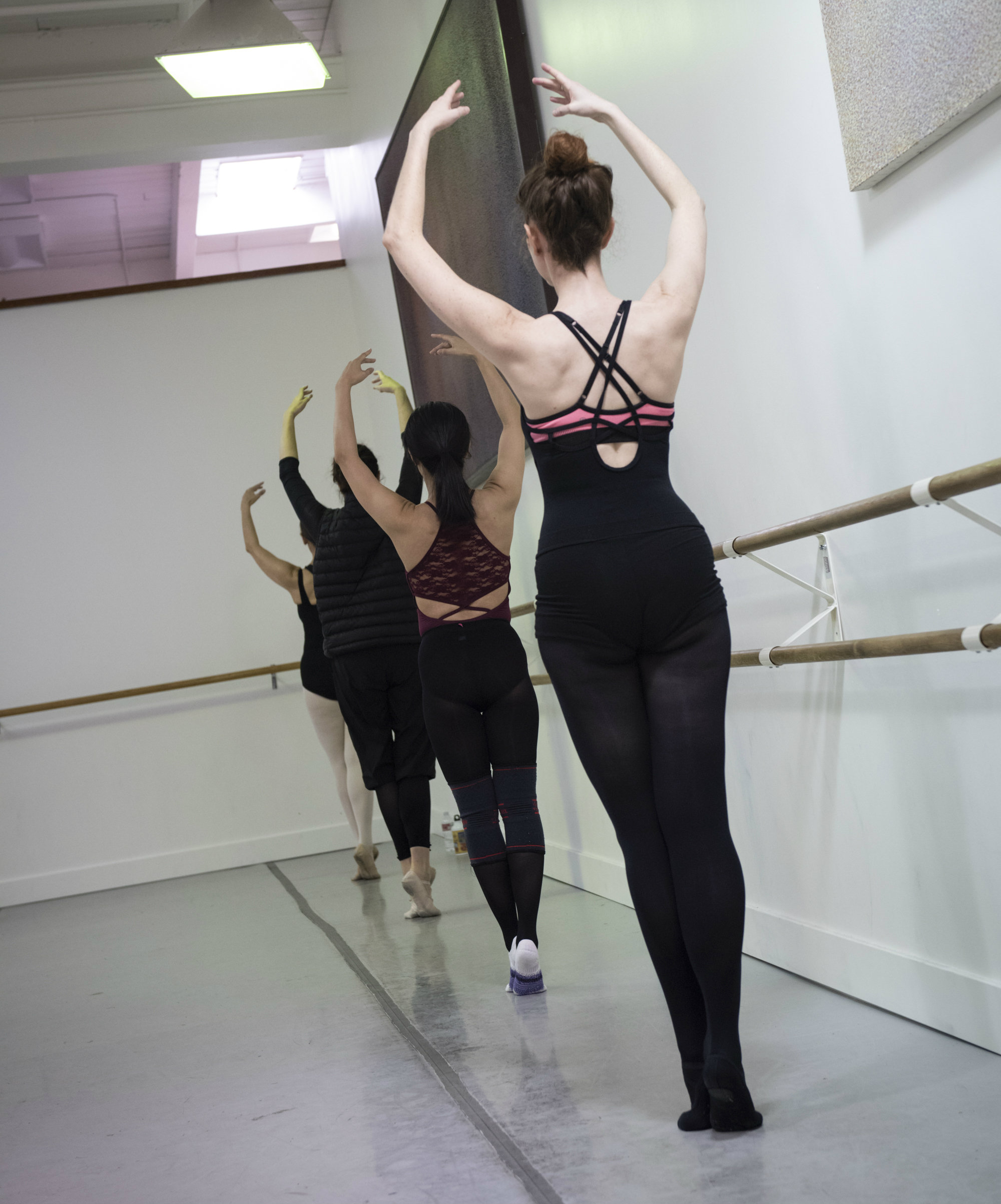 BBT Adult Open Division dancers  in class, photo by Natalia Perez