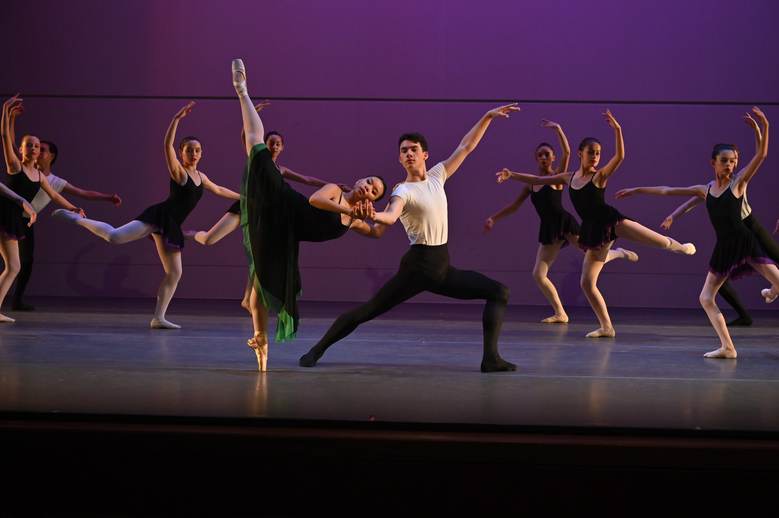 BBT's Studio Company and Youth Division dancers  in Robert Dekkers'  Rhapsody,  photo by Natalia Perez