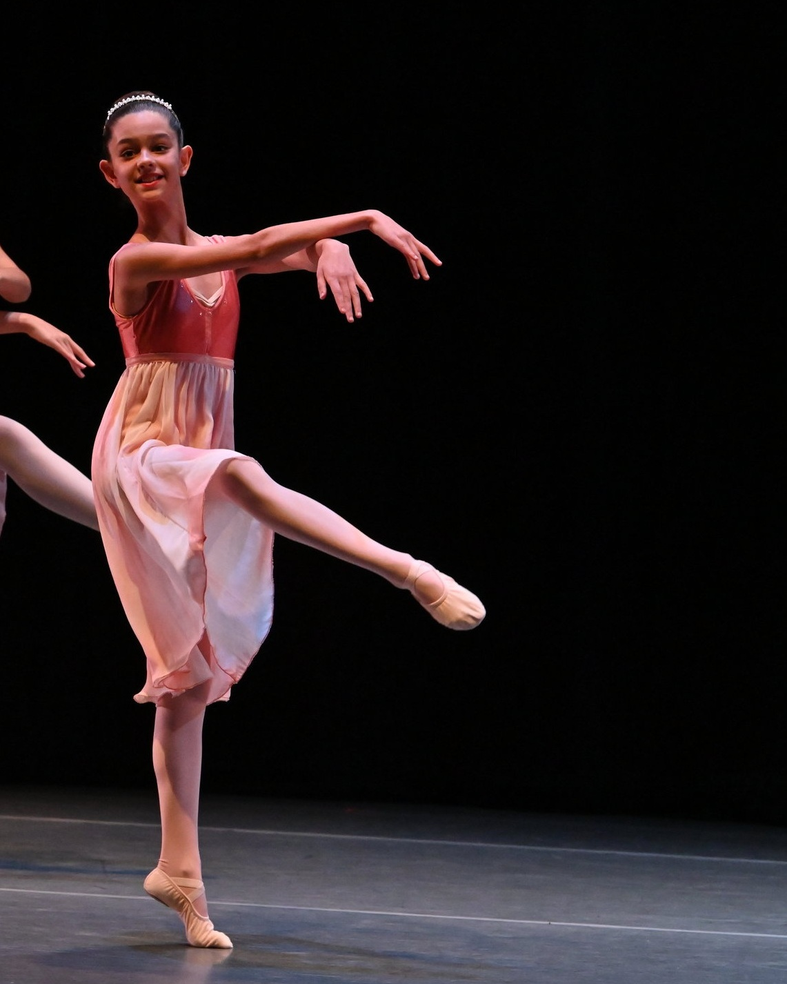 BBT's Youth Division dancer  in Christopher Lam's  Excerpt from La Bayadere , photo by Natalia Perez