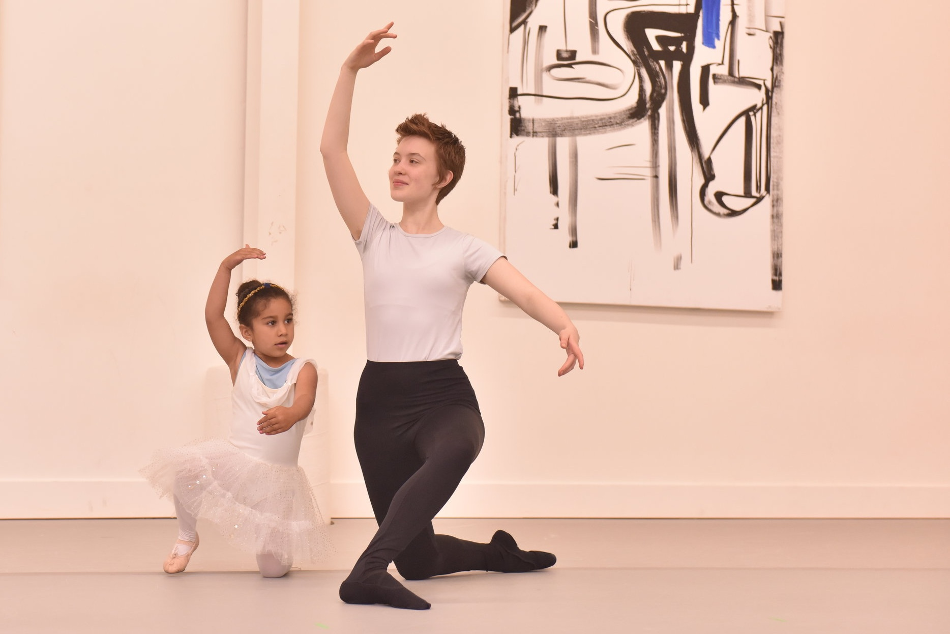 BBT Youth Division dancer and Teacher's Assistant  performing in the Pre-Ballet Showcase ,  photography by Natalia Perez