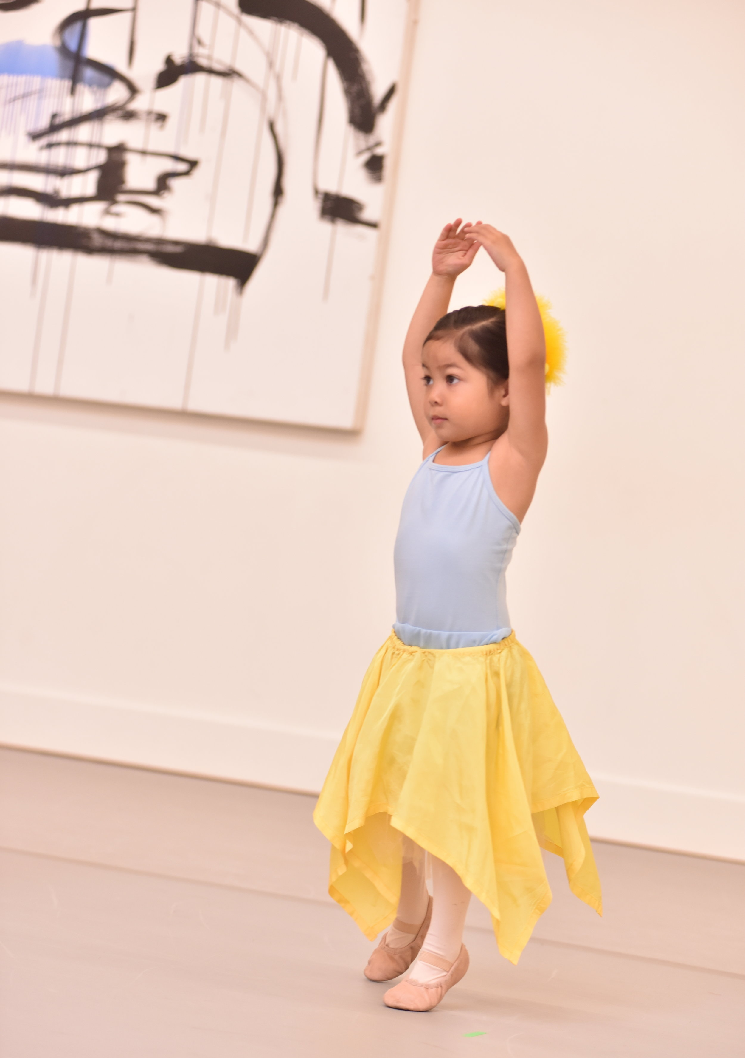 BBT Pre-Ballet Division dancer  in Julie Crothers'  The Magical Garden , photo by Natalia Perez