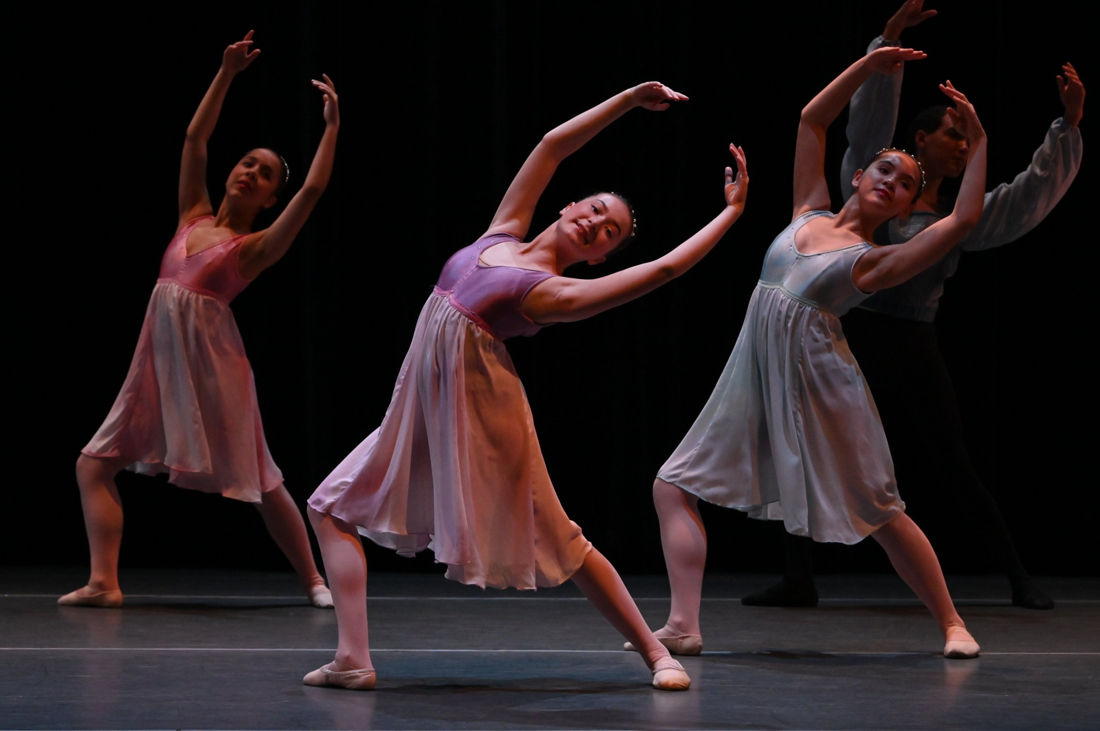 BBT's Youth Division dancers  in Christopher Lam's  La Bayadère,  photo by Natalia Perez