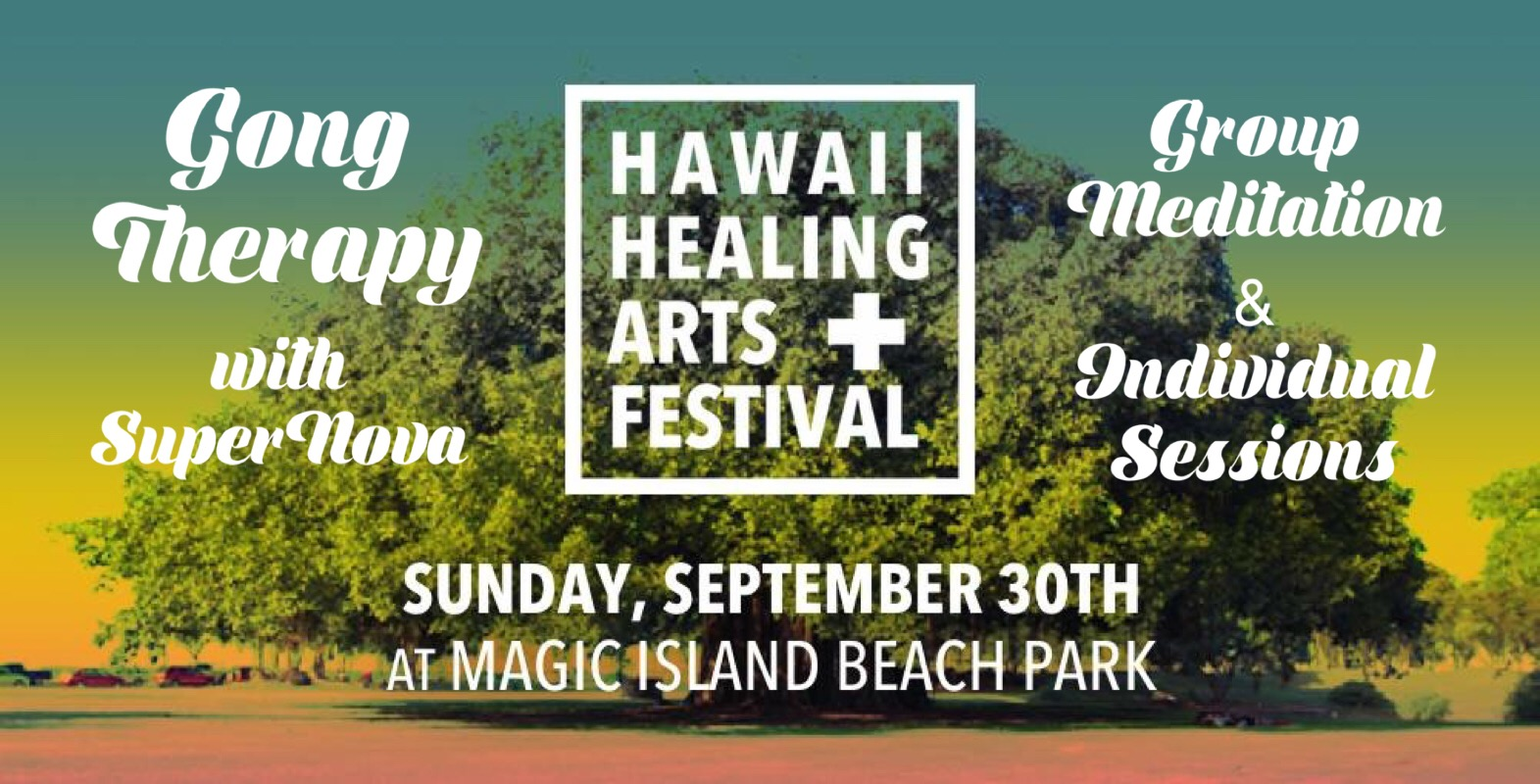 The Gong Magick continues....and it arrives @  The Healing Arts Festival  at Magic Island in Honolulu!  SuperNova Sarah Daigle will be offering group & individual sound healing meditations! See Offerings:  ALL SuperNova Offerings are DONATION based - Donations go to the Aloha Health Collective.   10am-3pm  - Private 10-20 minute Gong Therapy Energy Upgrades *Sign up at the booth!   4-5pm  - Group Gong Meditation @ the main stage *All are welcome! _________________________________________________  ADMISSION to Event:   Suggested Contribution: $15 Wristband Entry  Wristband Includes:  - 25% Off All Healer & Practitioner Services - Access to All Workshops & Performances - Silent Disco (ID deposit required) - Entry into After Party at Ong King Arts Center  (No discount on product vendors with wristband, practitioner services only). _________________________________________________   MORE INFO for ALL of the AMAZING offerings at the festival:   Tribal Connections Hawaii Presents: Hawaii Healing Arts Festival  _________________________________________________   BENEFITS OF THE SACRED SOUND:  -stress & anxiety relief, -pain relief, -speeds up healing process, -improve symptoms of depression, -PTSD antidote, -anti-aging, -repair & activate DNA, -improve sleep patterns, -brings more joy & motivation -spark new creative ideas and help to bring clarity to those areas of your life you may be unsure about.    More Info on Sound Healing/SuperNova:   www.SuperNovaEnergetics.com   SuperNova Energetics