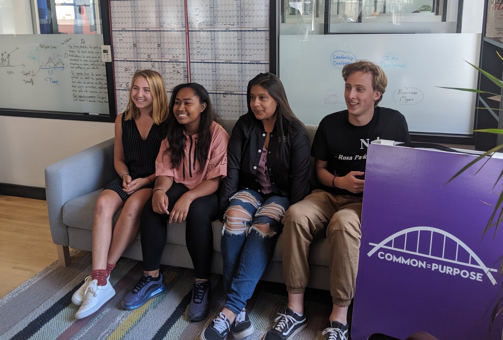 Class of 2019: Laila, Asha, Jay and Graham, Inaugural Common Purpose Interns (OGs)