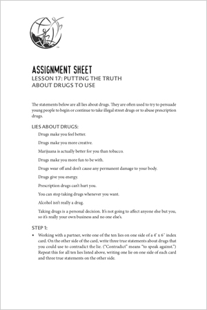 Assignment Sheet, Lesson 17