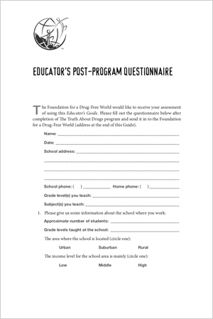 Educator's Questionnaire