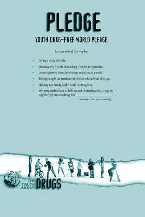 Youth Drug-Free Pledge (large format)