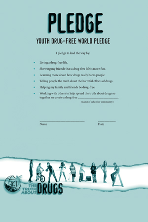 Youth Drug-Free Pledge (small format)