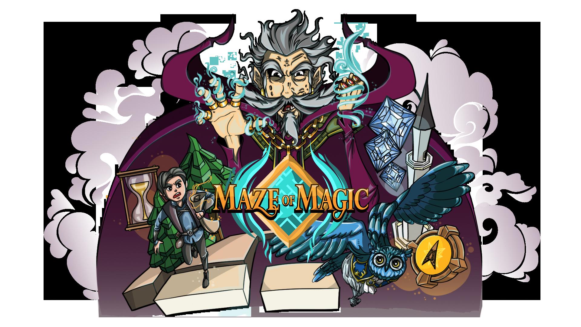Maze of Magic Title Screen