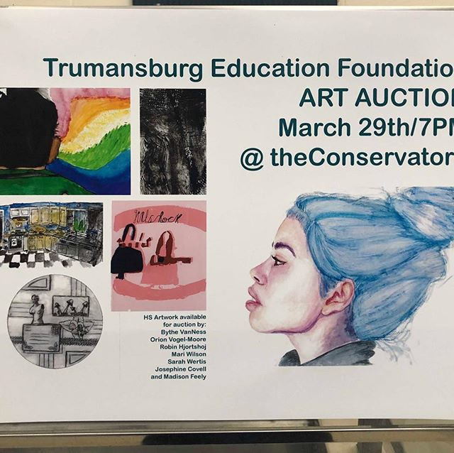 There will be art pieces from our high school students to bid on tonight!  Check out our Facebook page for more photos of those pieces ...