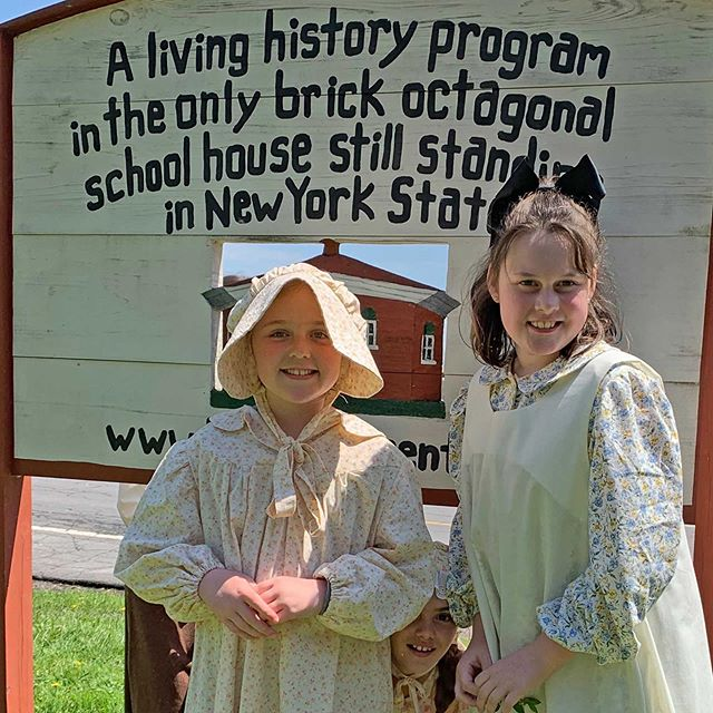 Grade 4 students visit Eight Square Schoolhouse!  Check out the Trumansburg Education Foundation Facebook page for more pictures.