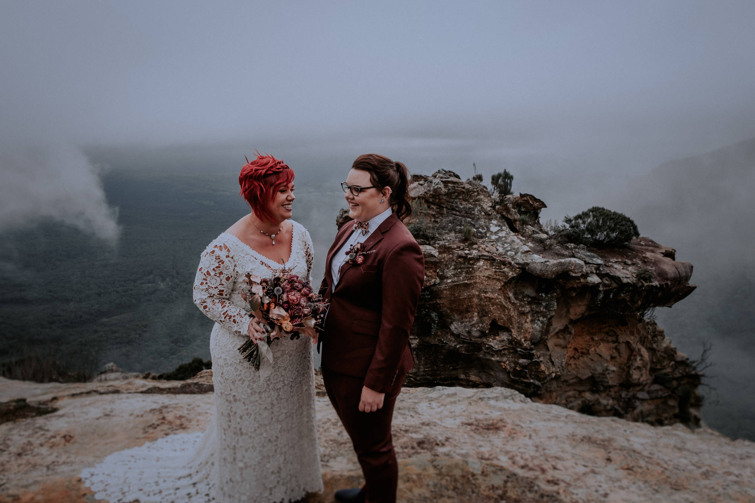 Sydney & Blue Mountains Elopement & Wedding Photography. LGBTQ+ friendly. SSM. Dancing with her. Same sex wedding. Destination wedding photographers. Emotional and Non-Traditional weddings