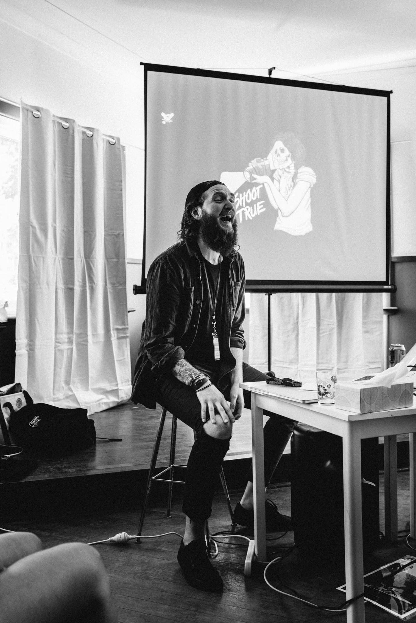 Benjamin Urquhart, photographer and head of Kings & Thieves, speaking at wedding photography workshop Camp Common Folk in WA.    Photo By Tahnee Jade   .