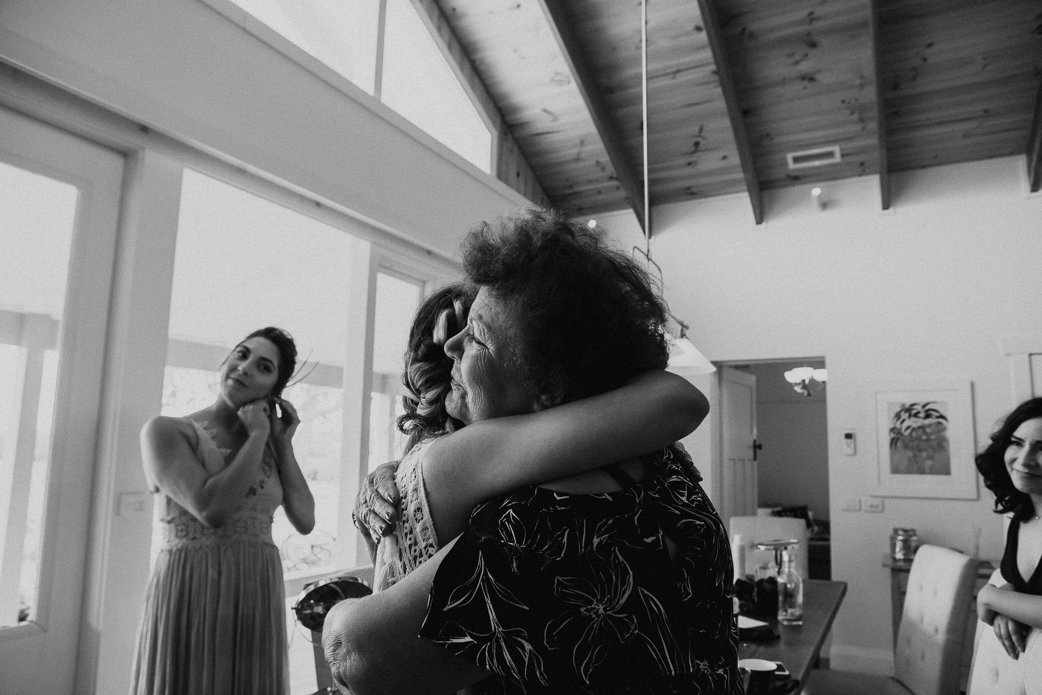 An emotional reunion between a bride and her grandmother