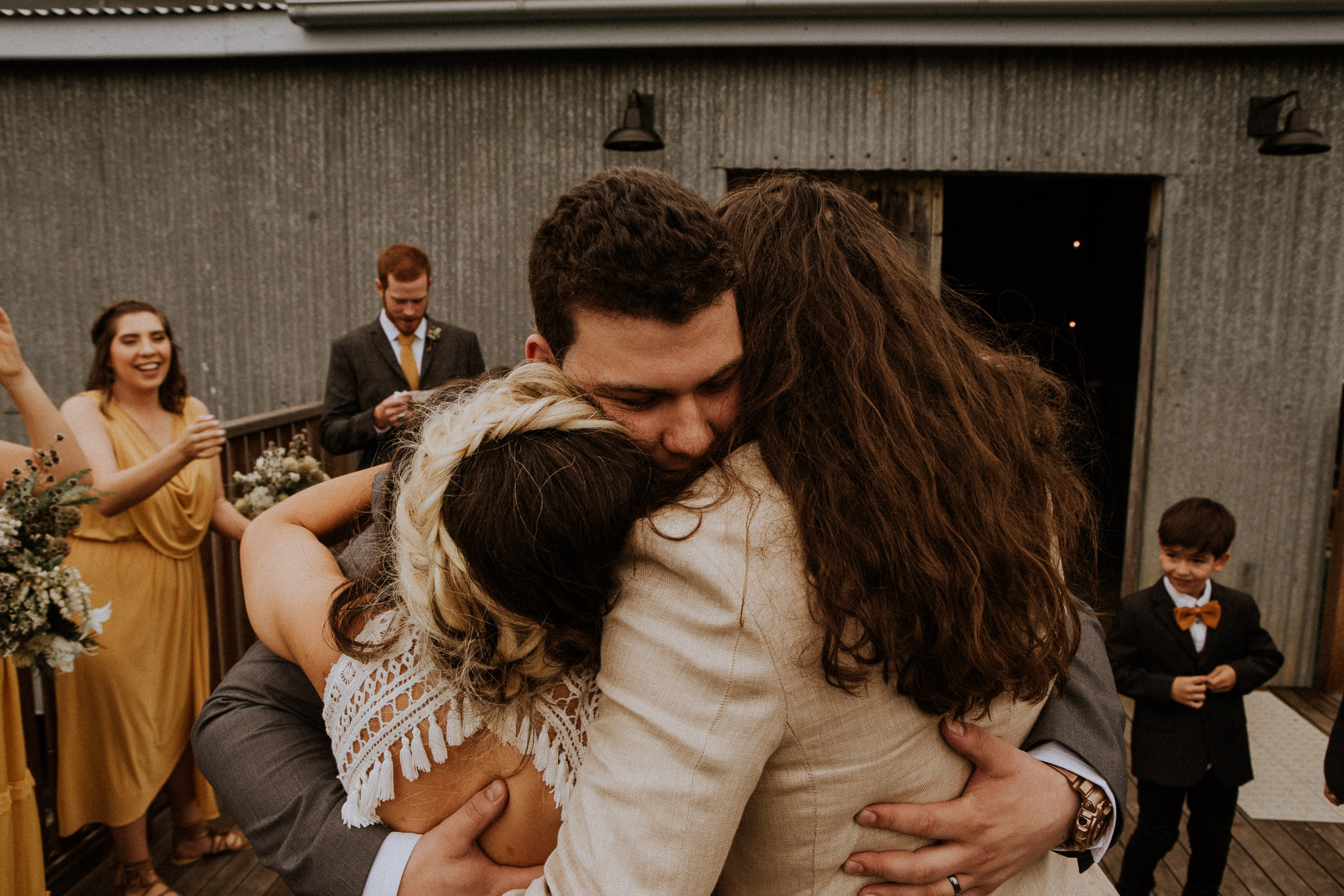 Guests' emotional reactions after wedding ceremony