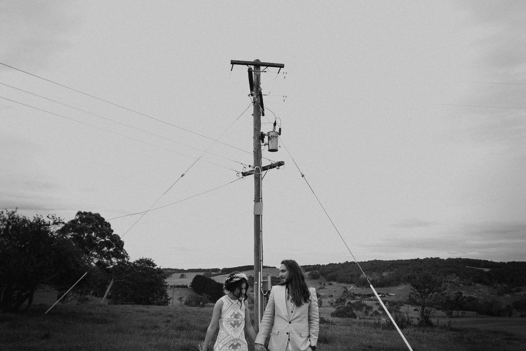 Portraits with a bridal party near Waldara Farm