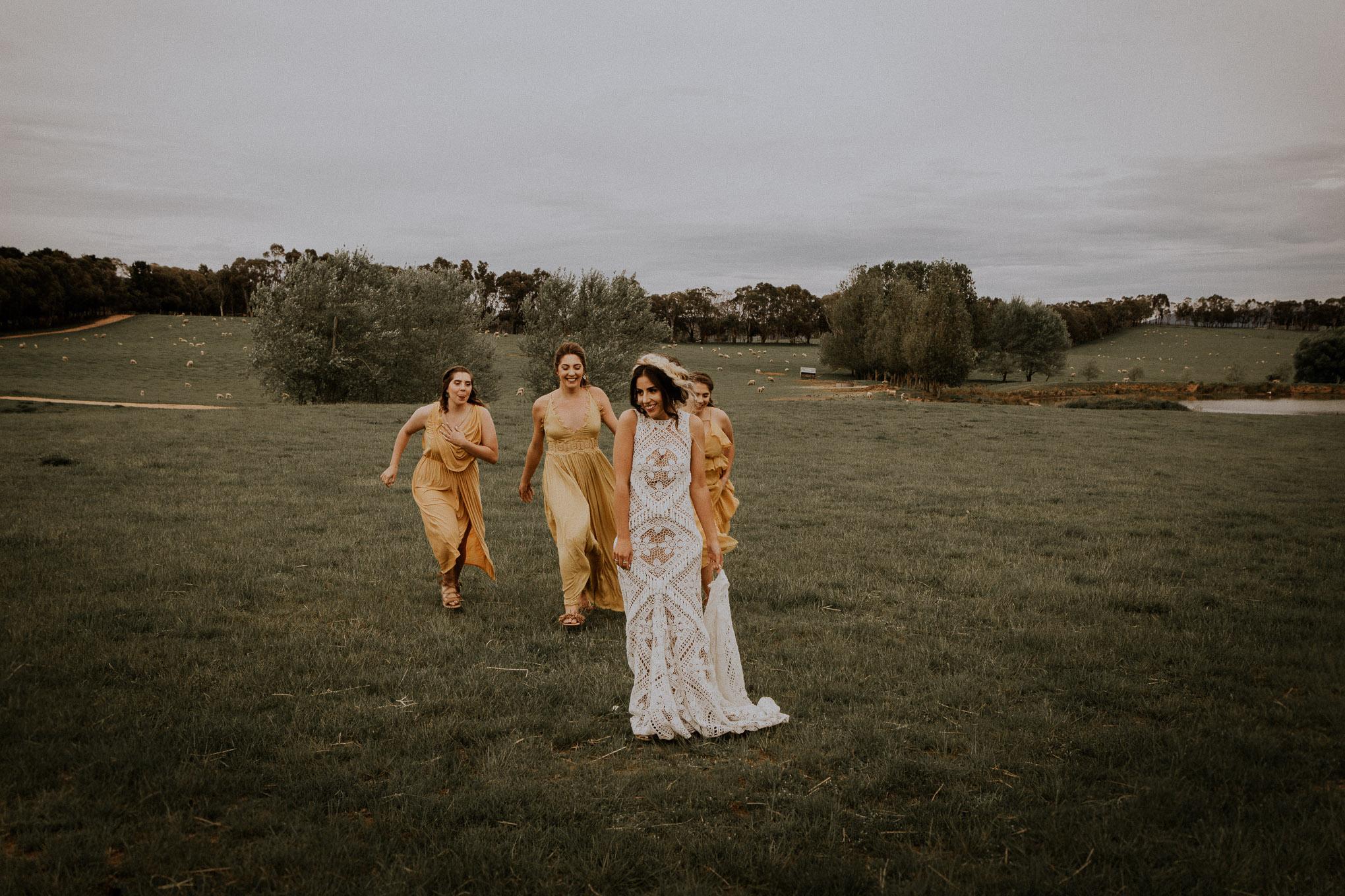 Portraits with a bridal party at Waldara Farm