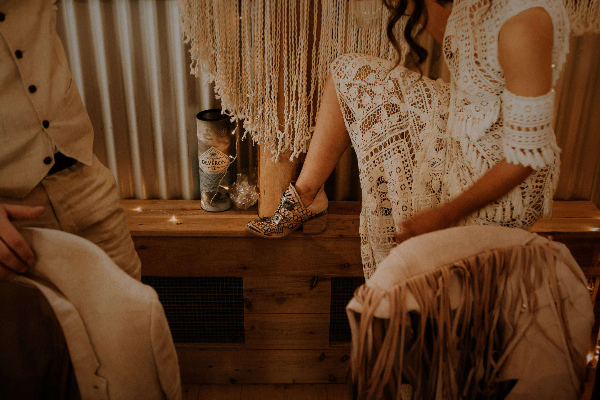 Details at an afternoon wedding reception at Waldara Farm