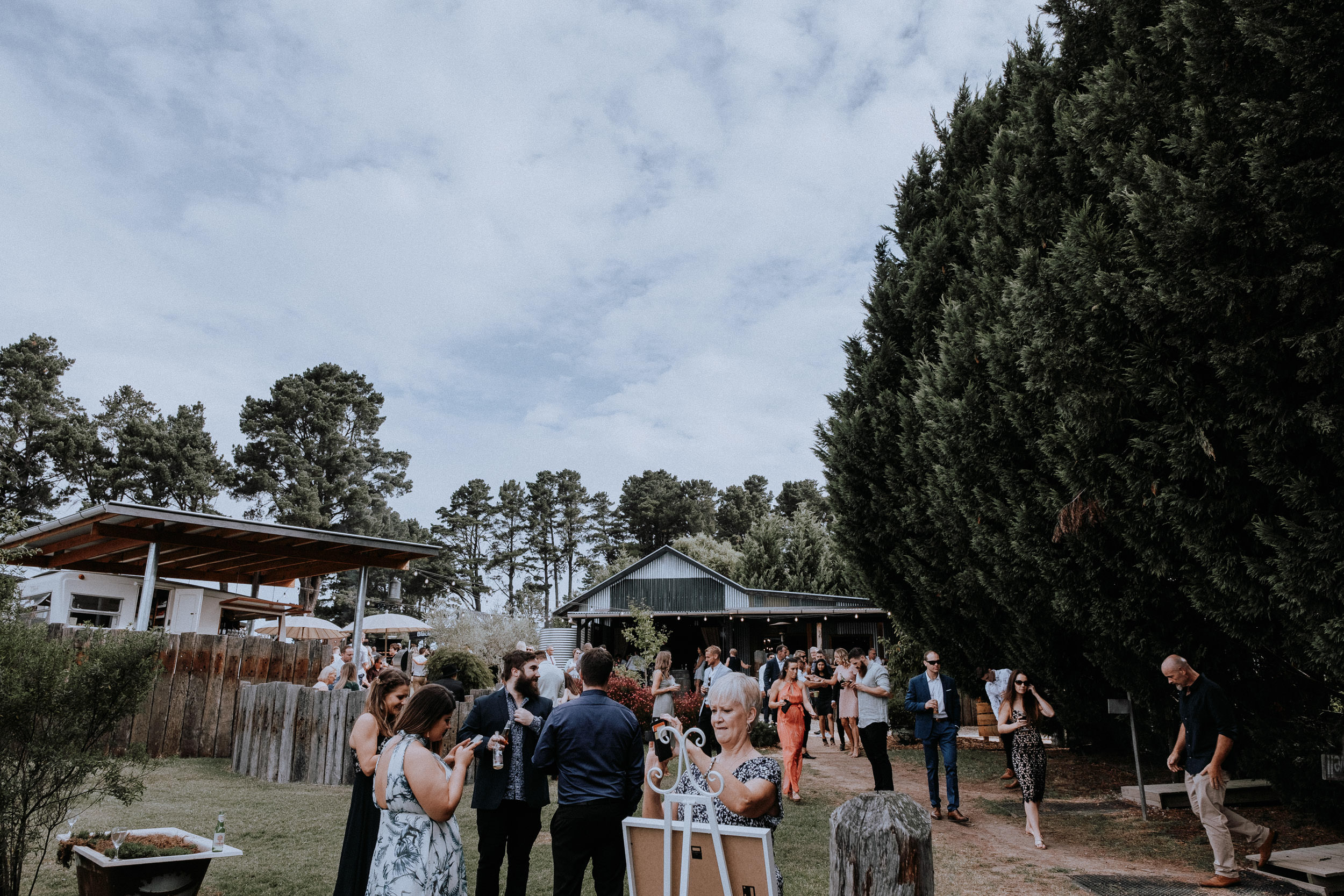Candid photos of wedding guests enjoying their time at Seclusions Blue Mountains