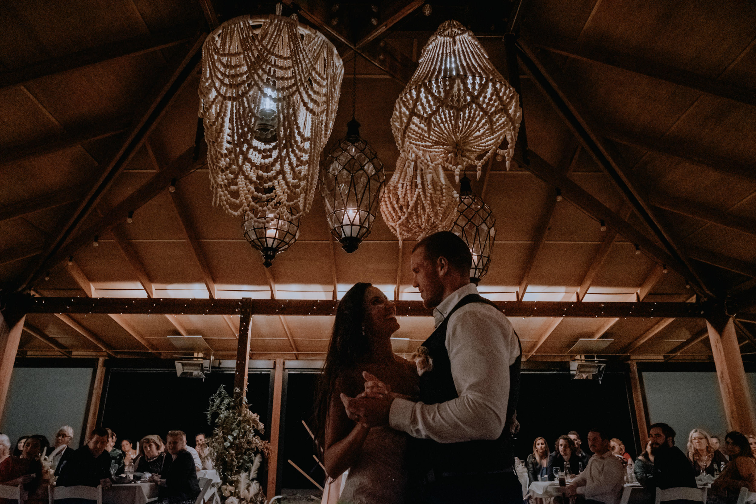 Bride & Groom's first dance during their wedding reception