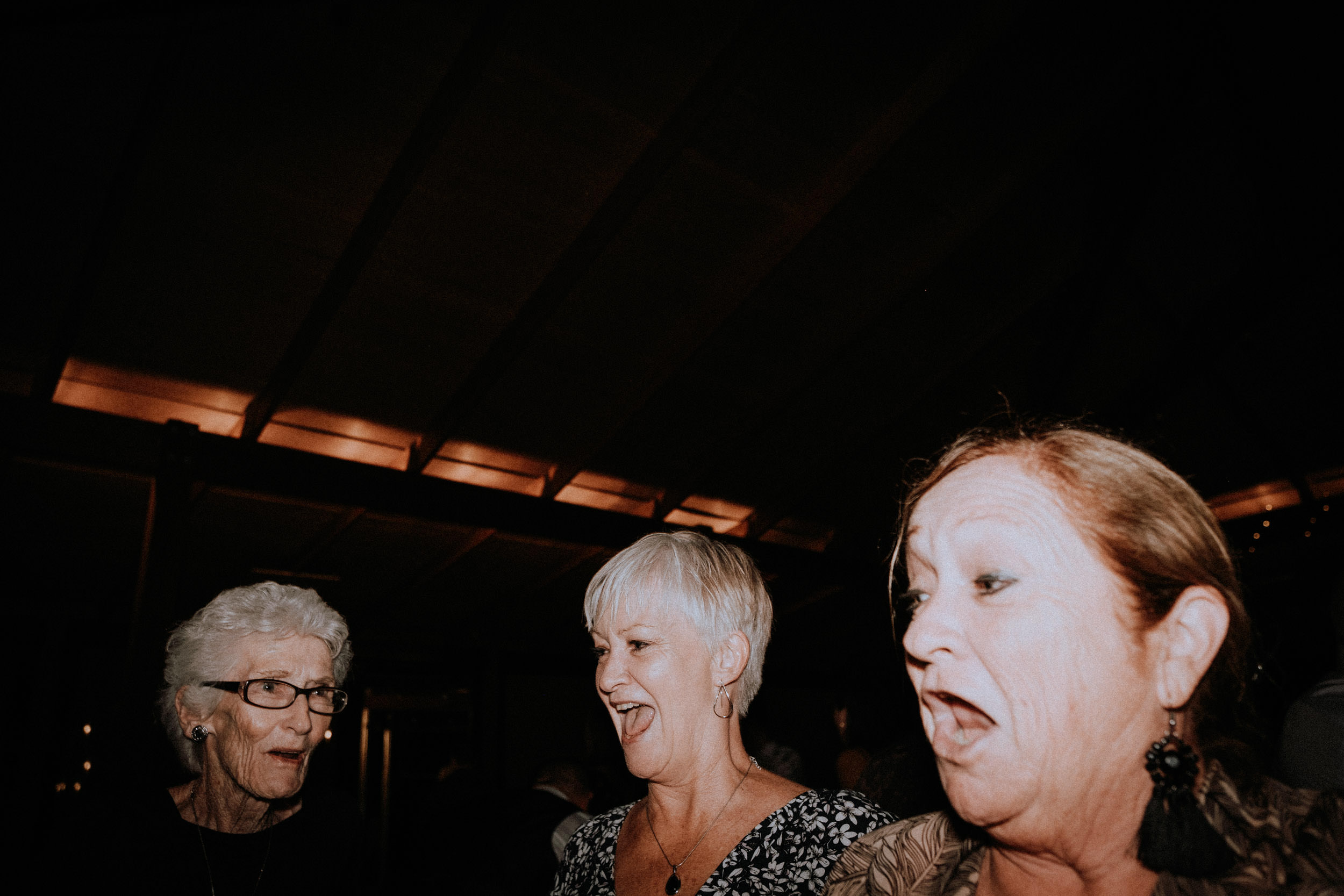 Wild dancing during a wedding at Seclusions Blue Mountains