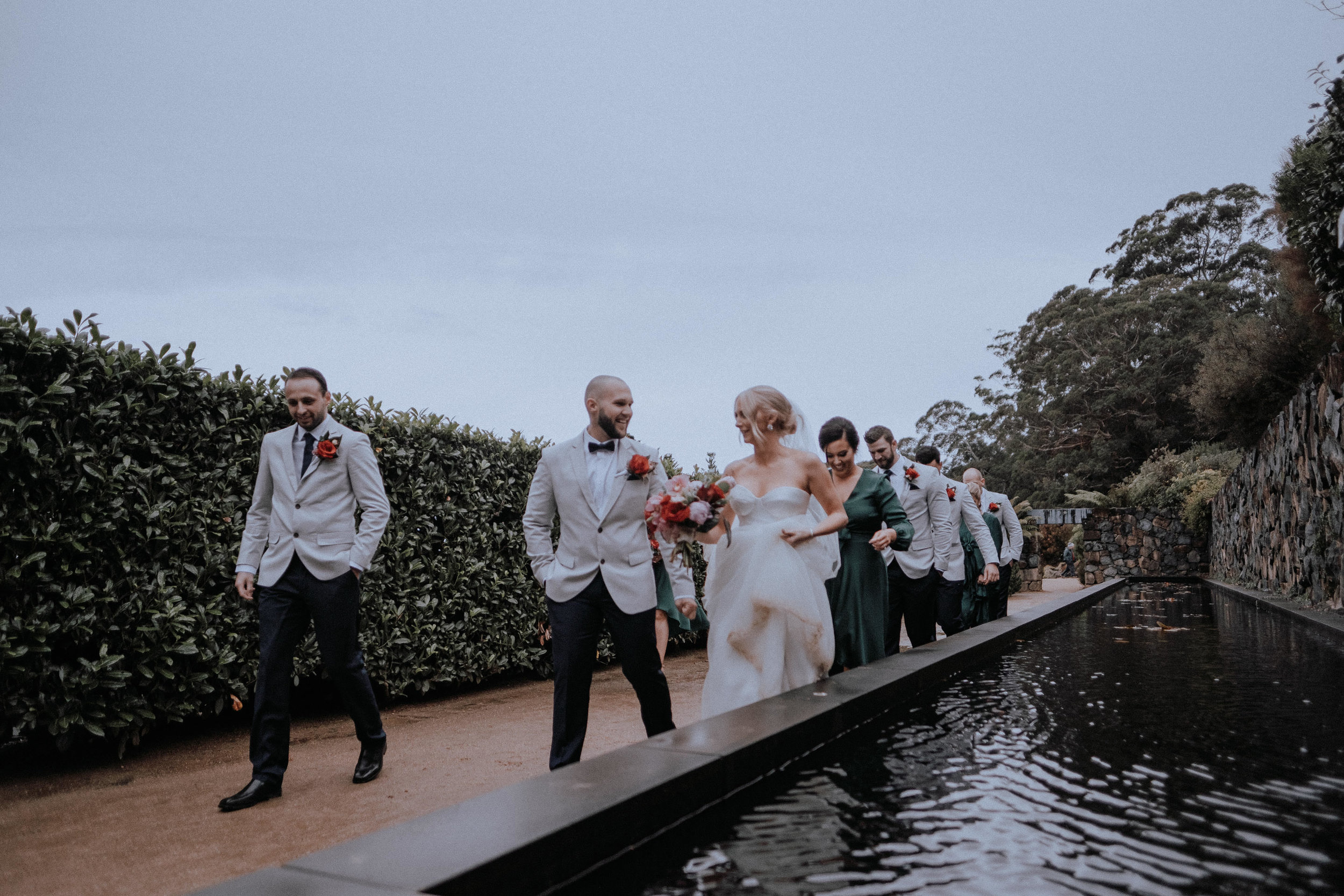 The wedding party at Mt Tomah Botanic Gardens