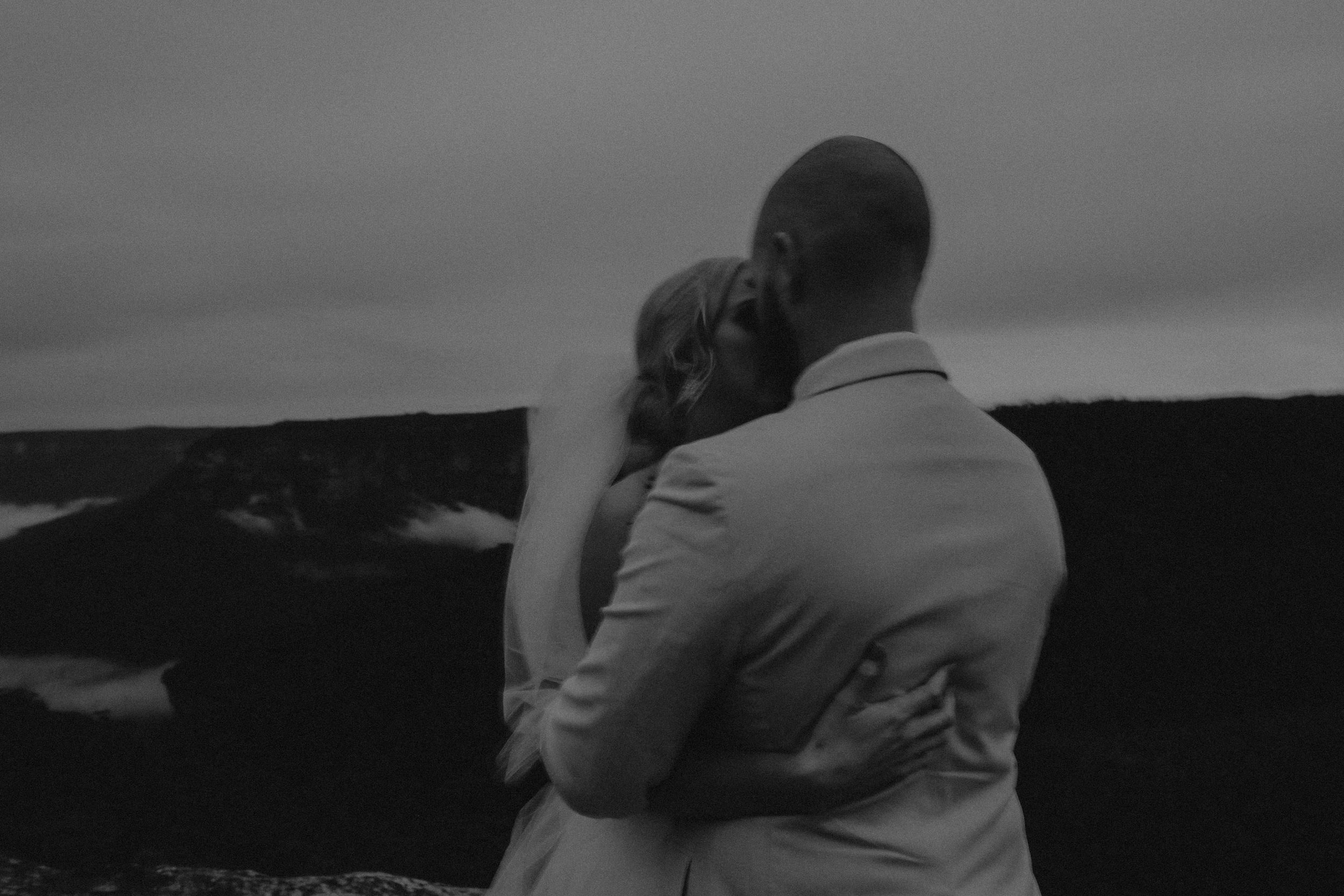 Epic and emotional sunset portraits of a bride and groom at Mt Banks Blue Mountains